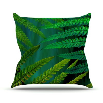 Forest Fern Plant Throw Pillow Size: 20 H x 20 W x 1 D, Color: Green