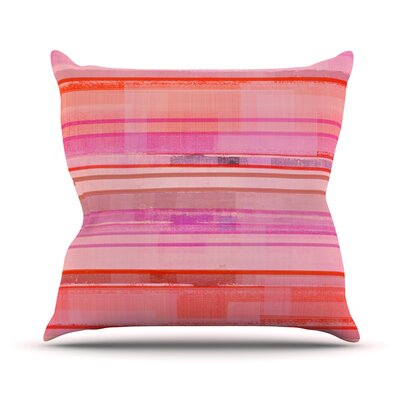 Starwberry Shortcake Stripes Throw Pillow Size: 16 H x 16 W x 1 D