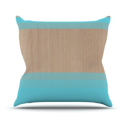 Art by Brittany Guarino Wood Throw Pillow Color: Aqua, Size: 26 H x 26 W x 1 D