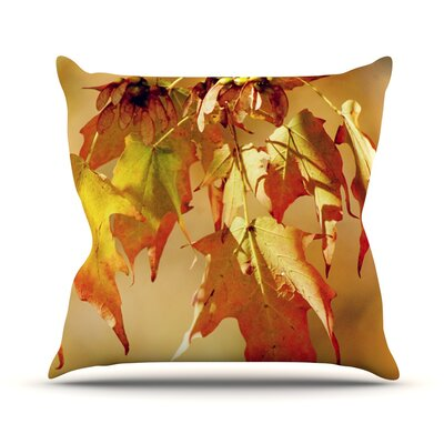 Autumn Leaves by Angie Turner Vibrant Throw Pillow Size: 16 H x 16 W x 1 D