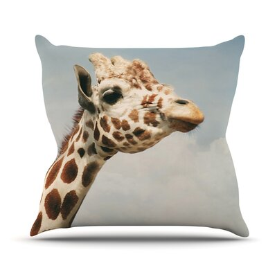 Giraffe by Angie Turner Animal Throw Pillow Size: 18 H x 18 W x 1 D
