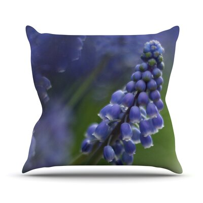 Grape Hyacinth by Angie Turner Throw Pillow Size: 26 H x 26 W x 1 D
