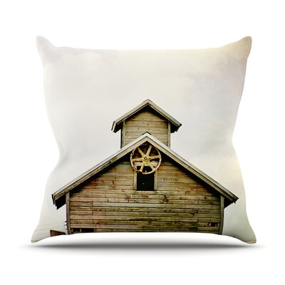 Barn Top by Angie Turner Wooden Throw Pillow Size: 18 H x 18 W x 1 D