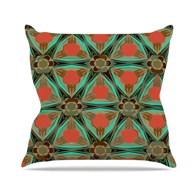 Moorish by Alison Coxon Throw Pillow Size: 16 H x 16 W x 1 D, Color: Teal/Orange