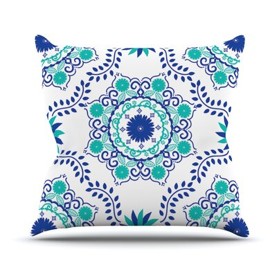 Lets Dance by Anneline Sophia Throw Pillow Size: 16 H x 16 W x 1 D, Color: Blue/Teal