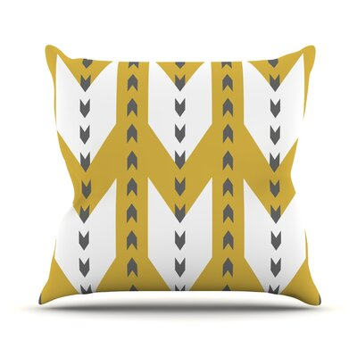 Golden Aztec by Pellerina Design Throw Pillow Size: 18'' H x 18'' W x 1