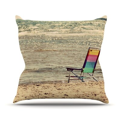 Beach Chair by Angie Turner Sandy Beach Throw Pillow Size: 18 H x 18 W x 1 D