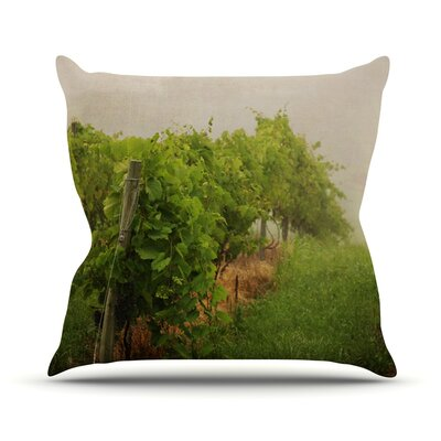Grape Vines by Angie Turner Foggy Throw Pillow Size: 18 H x 18 W x 1 D