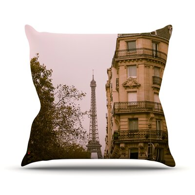 Lady Beckons by Ann Barnes Blush Throw Pillow Size: 18 H x 18 W x 1 D