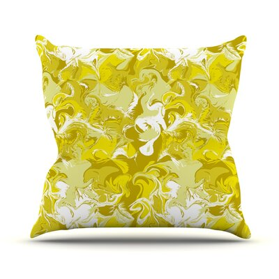 Marbleized by Anneline Sophia Throw Pillow Size: 18 H x 18 W x 1 D, Color: Gold