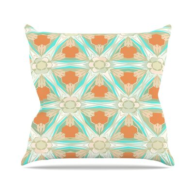 Moorish by Alison Coxon Throw Pillow Color: Teal/White, Size: 18 H x 18 W x 1 D