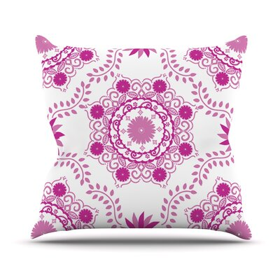 Lets Dance by Anneline Sophia Throw Pillow Size: 26 H x 26 W x 1 D, Color: Fuchsia