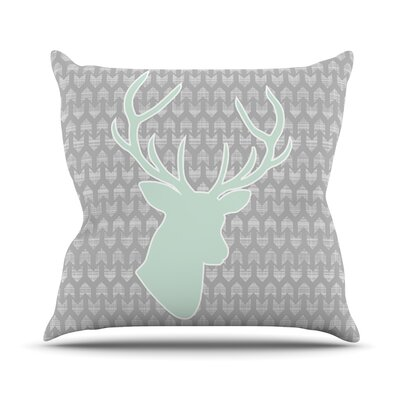 Winter Deer by Pellerina Design Throw Pillow Size: 26 H x 26 W x 1 D