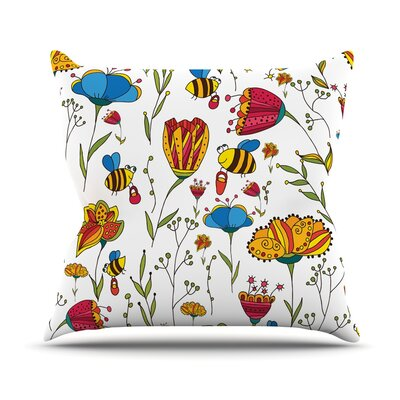 Bees by Alisa Drukman Throw Pillow Size: 16 H x 16 W x 1 D