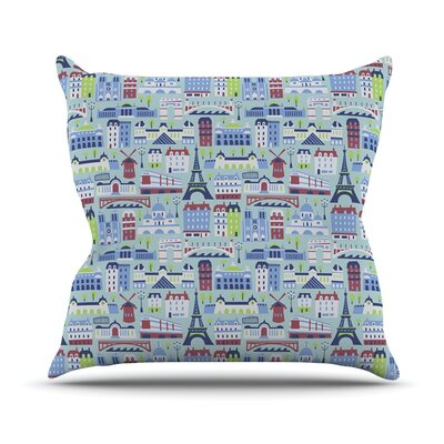 JAdore Paris by Allison Beilke France Pattern Throw Pillow Size: 16 H x 16 W x 1 D