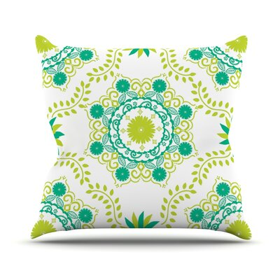 Lets Dance by Anneline Sophia Throw Pillow Size: 26 H x 26 W x 1 D, Color: Green