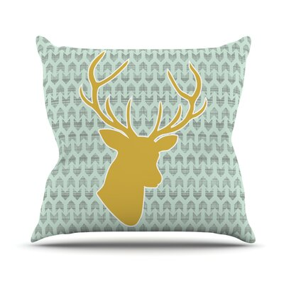 Golden Deer by Pellerina Design Throw Pillow Size: 20 H x 20 W x 1 D