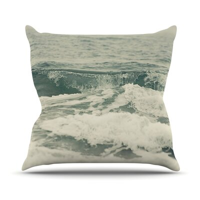 Crashing Waves by Cristina Mitchell Ocean Throw Pillow Size: 26 H x 26 W x 1 D