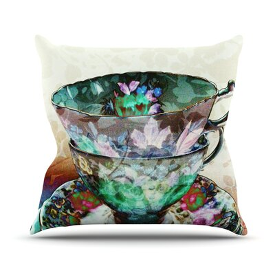Mad Hatters T-Party III by alyZen Moonshadow Abstract Throw Pillow Size: 18 H x 18 W x 1 D