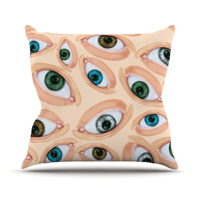 Eyes Eyeballs Throw Pillow Size: 16 H x 16 W x 1 D
