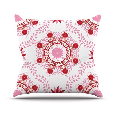 Lets Dance by Anneline Sophia Throw Pillow Size: 16 H x 16 W x 1 D, Color: Red/Pink