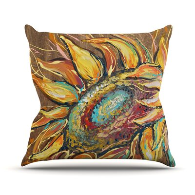 Sunflower by Brienne Jepkema Flower Throw Pillow Size: 16 H x 16 W x 1 D