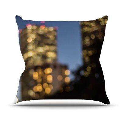 NOLA at Night by Ann Barnes City Lights Cotton Blend Throw Pillow Size: 16 H x 16 W x 1 D