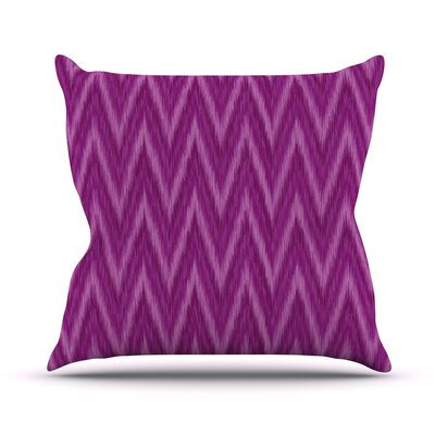 Chevron by Amanda Lane Throw Pillow Size: 18 H x 18 W x 1 D, Color: Purple