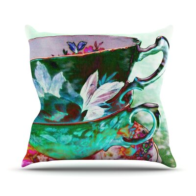 Mad Hatters T-Party IV by alyZen Moonshadow Throw Pillow Size: 16 H x 16 W x 1 D