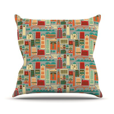 My Fair Milwaukee City Throw Pillow Size: 18 H x 18 W x 1 D