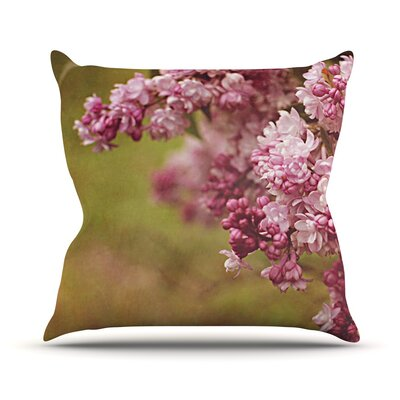 Lilacs by Angie Turner Flower Throw Pillow Size: 16 H x 16 W x 1 D