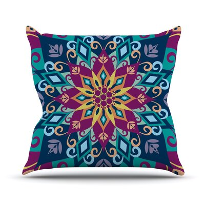 Blooming Mandala by Amanda Lane Throw Pillow Size: 20 H x 20 W x 1 D