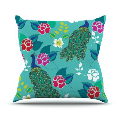 Mexican Peacock by Anneline Sophia Rainbow Throw Pillow Size: 18'' H x 18'' W x 1