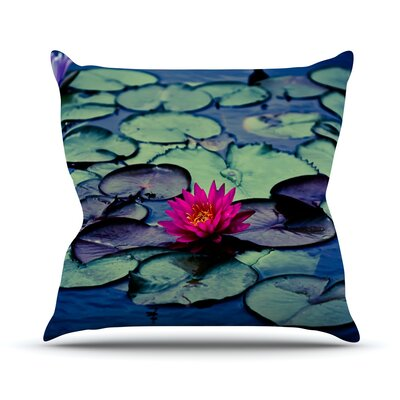 Twilight by Ann Barnes Water Lily Throw Pillow Size: 18 H x 18 W x 1 D
