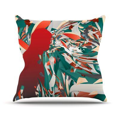 Soccer Headshot by Danny Ivan Throw Pillow Size: 18 H x 18 W x 1 D
