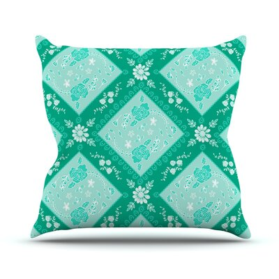 Diamonds by Anneline Sophia Throw Pillow Size: 18 H x 18 W x 1 D, Color: Mint