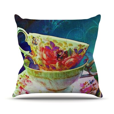 Mad Hatters T-Party V Throw Pillow Size: 16 H x 16 W x 1 D