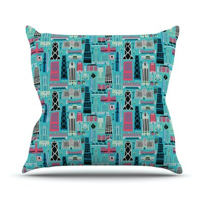 My Kind of Chicago by Allison Beilke Throw Pillow Size: 26 H x 26 W x 1 D