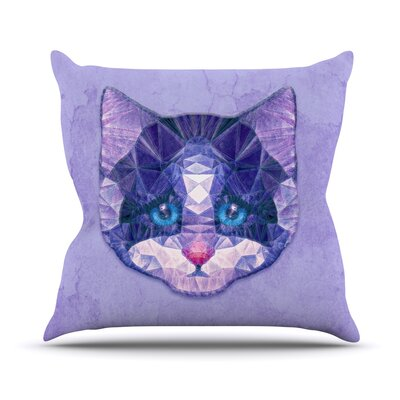 Cute Kitten by Ancello Cat Throw Pillow Size: 26 H x 26 W x 1 D