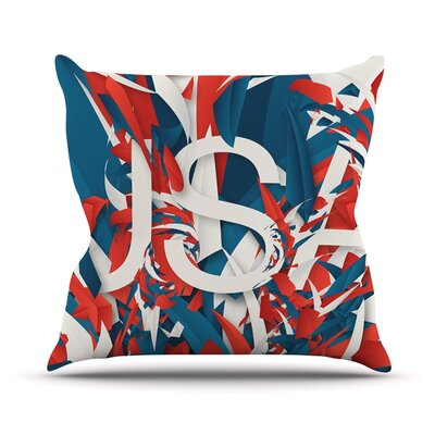 USA by Danny Ivan World Cup Throw Pillow Size: 18 H x 18 W x 1 D