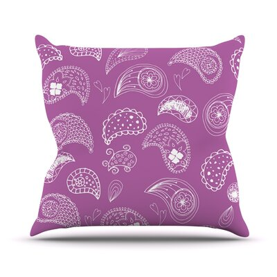 Tropical Paisley by Anneline Sophia Throw Pillow Size: 26 H x 26 W x 1 D