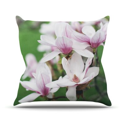 Magnolias by Angie Turner Throw Pillow Size: 18 H x 18 W x 1 D