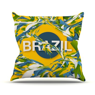 Brazil by Danny Ivan World Cup Throw Pillow Size: 20 H x 20 W x 1 D