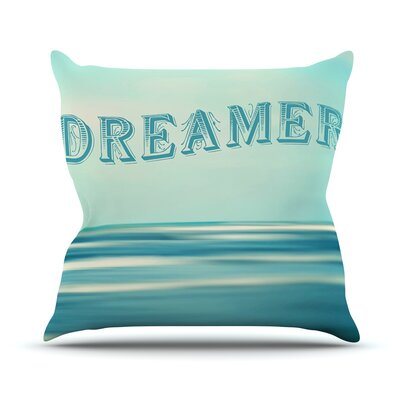 Dreamer by Ann Barnes Throw Pillow Size: 26 H x 26 W x 1 D