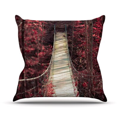 Enchant by Ann Barnes Bridge Cotton Blend Throw Pillow Size: 18 H x 18 W x 1 D