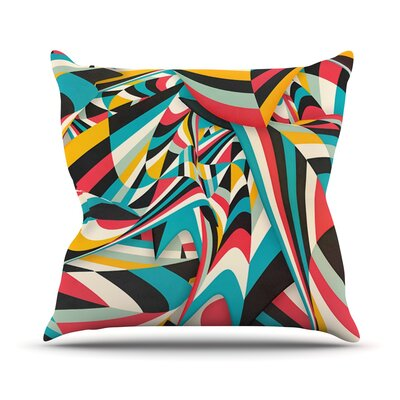 Dont Come Close by Danny Ivan Abstract Throw Pillow Size: 26 H x 26 W x 1 D