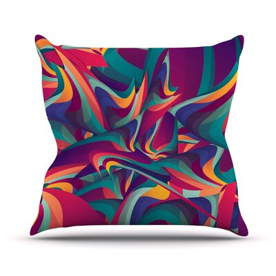 Wrong Past by Danny Ivan Throw Pillow Size: 18 H x 18 W x 1 D