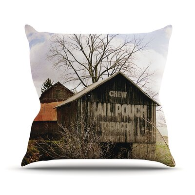 Mail Pouch Barn by Angie Turner Wooden House Throw Pillow Size: 18 H x 18 W x 1 D