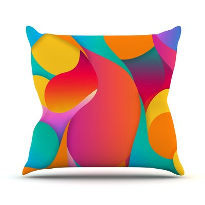 Still Life by Danny Ivan Warm Abstract Throw Pillow Size: 16 H x 16 W x 1 D