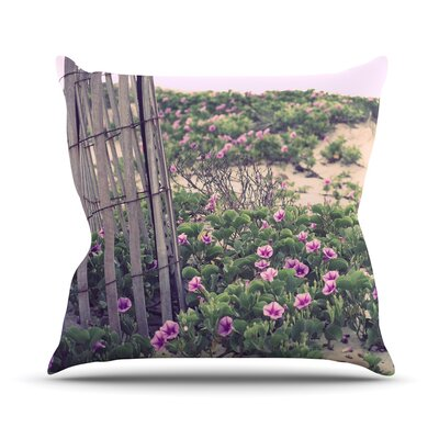 Morning at the Beach by Ann Barnes Flowers Throw Pillow Size: 16 H x 16 W x 1 D
